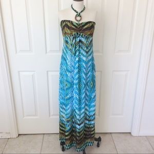 HeartSoul Medium Blue Maxi Dress
